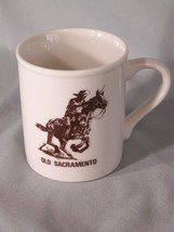 """Old Sacramento coffee cup approx 3.5"""" tall - $8.98"""
