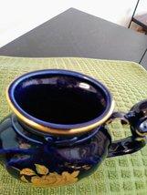 Carlsbad Karlovy Vary Cobalt Blue & Gold Porcelain Rose Mineral Water Sipping Dr image 4