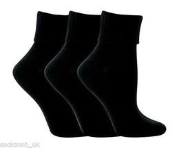 3 Paar Damen Schwarz Super Designer Umsatz Top Socks 4-8 - $9.52
