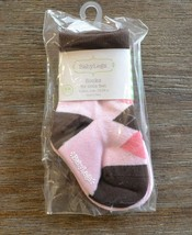 BabyLegs Coco Socks - 2 Pair - 12-24 Months - Girls Pink & Brown - $7.99