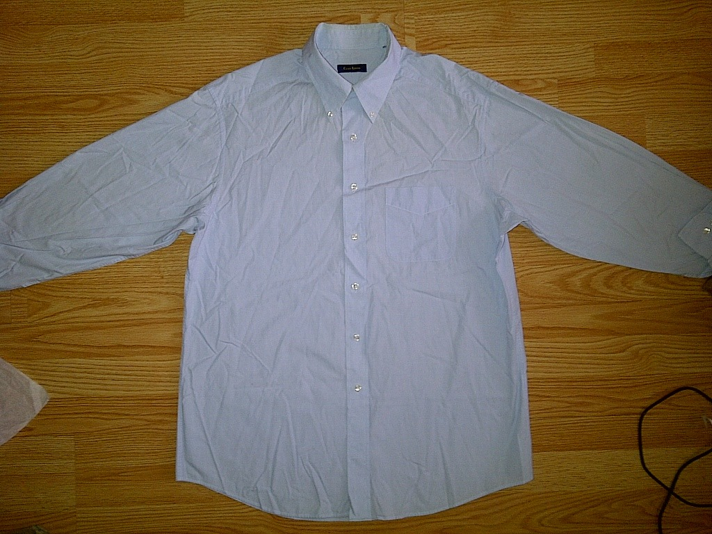 Club Room Light Blue Long Sleeve Button Front Down Up Shirt Large 16 1/2 L 32/33
