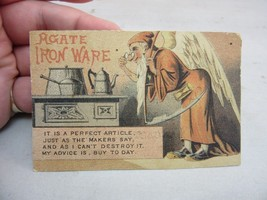 Vtg Victorian Trade Card. Agate Iron Ware .Father Time,stove.Lancaster,N.H - $13.99