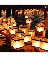 Set of 20 White & Gold Floating Candle Wish Lanterns - $14.83