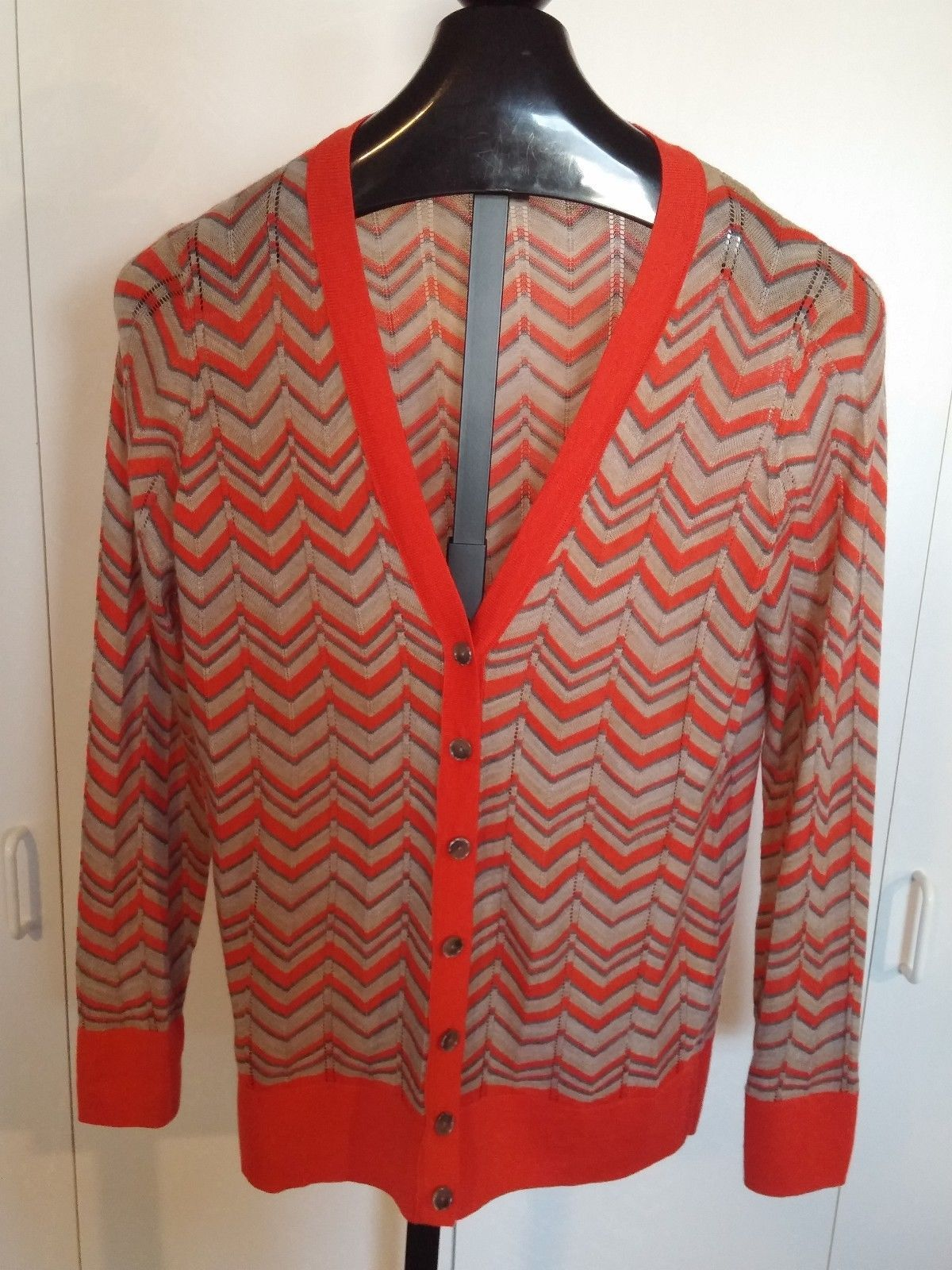 Primary image for LOFT ANN TAYLOR LADIES LS ACRYLIC/WOOL/POLY CARDIGAN SWEATER-L-WORN ONCE-THIN