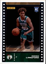 2019-20 Panini NBA Sticker Box Standard Size Insert #92 Romeo Langford B... - $7.95