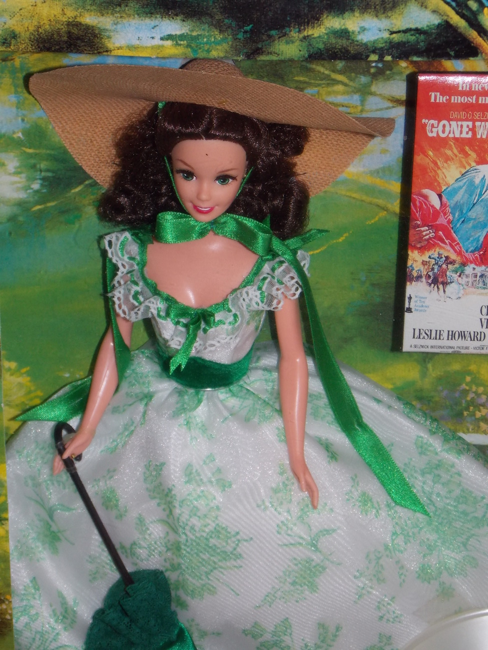 1994 Gone With The Wind Barbie as Scarlett O'Hara Hollywood Legends White Dress