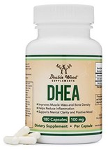 DHEA 100mg – 180 Capsules -Third Party Tested, Made in The USA Max Strength, 6 M