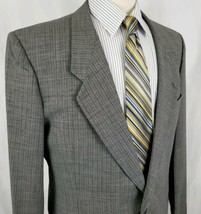 Giorgio Armani Suit Coat Blazer Mens 43R 2btn Jacket Gray Weave Made Ita... - $37.99