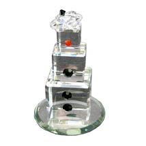 3 inch tall Clear Crystal Snowman - Noel image 4