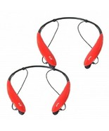 2PC SetSports Bluetooth Headphones in Red Model: SPORTS-BLUETOOTH-RED-BNDL - $17.77