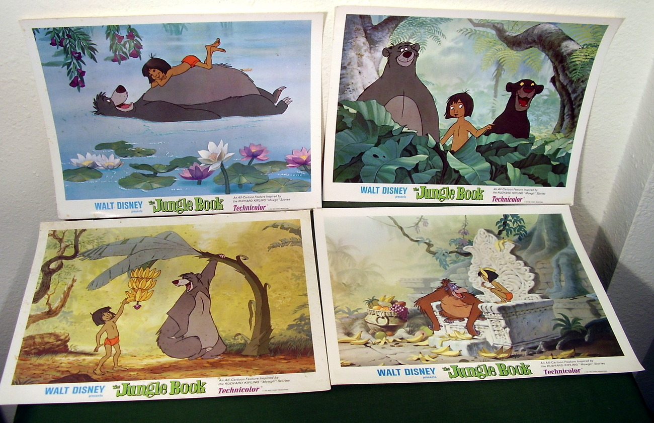 The Jungle Book 1967 Disney 8 Original Lobby Cards