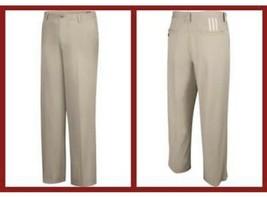 ADIDAS Golf Tiger 176PS Pants 3 Stripe Khaki/Ecru Stretch ClimaLite Size... - $44.55