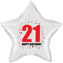 "21st Birthday Party Supplies (Age 21) ""HAPPY BIRTHDAY"" STAR BALLOON - $6.99"