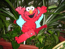 Whirligig  ELMO, whirligigs,handcrafted,handpainted,wind spinner,whirley,motion - $55.00