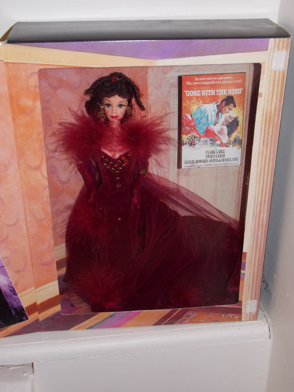 1994 Gone With The Wind Barbie as Scarlett O'Hara Hollywood Legends Red Dress