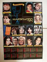 ABBA ,Charlie's Angels,Bee Gees 1979 Vintage Greek Calendar Poster - $37.19