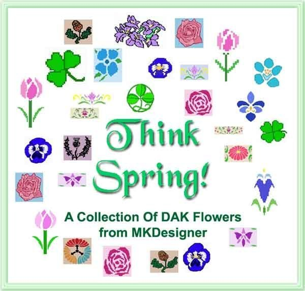 THINK SPRING 29 Flowers Many Multiple Sizes HK Graphs - MK DAK