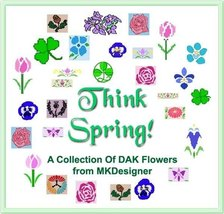 THINK SPRING 29 Flowers Many Multiple Sizes HK Graphs - MK DAK - $5.40