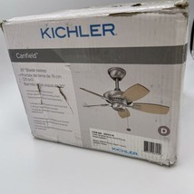 """Kichler 300103NI, Canfield Brushed Nickel 30"""" Outdoor Ceiling Fan - $138.59"""