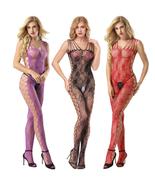 Cytherea Rose pattern Bodysuit Fishnet Stocking Nightwear Mesh extra lar... - $8.50