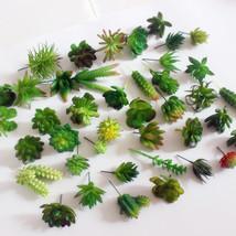 Mini Succulent plants Plastic artificial fall leaves flores DIY suculent... - $4.70