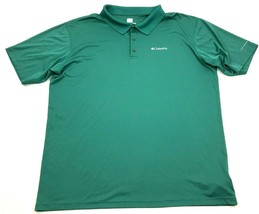Columbia OMNI-FREEZE Zero Shirt Dry Fit Polo Size XL 1X Sweat Activated ... - $14.27