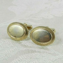Vintage Anson Cufflinks Gold Oval Shaped  - $12.86