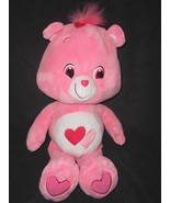 "Care Bear Love a Lot Bear Pink 2 Hearts Plush Stuffed Animal Large 22"" O... - $37.50"