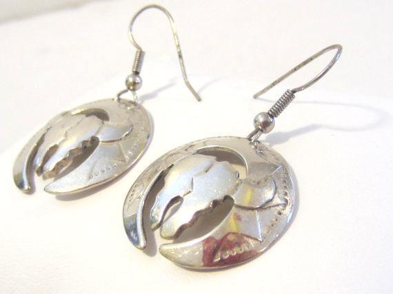 Vintage sterling silver 925 Dangle earrings