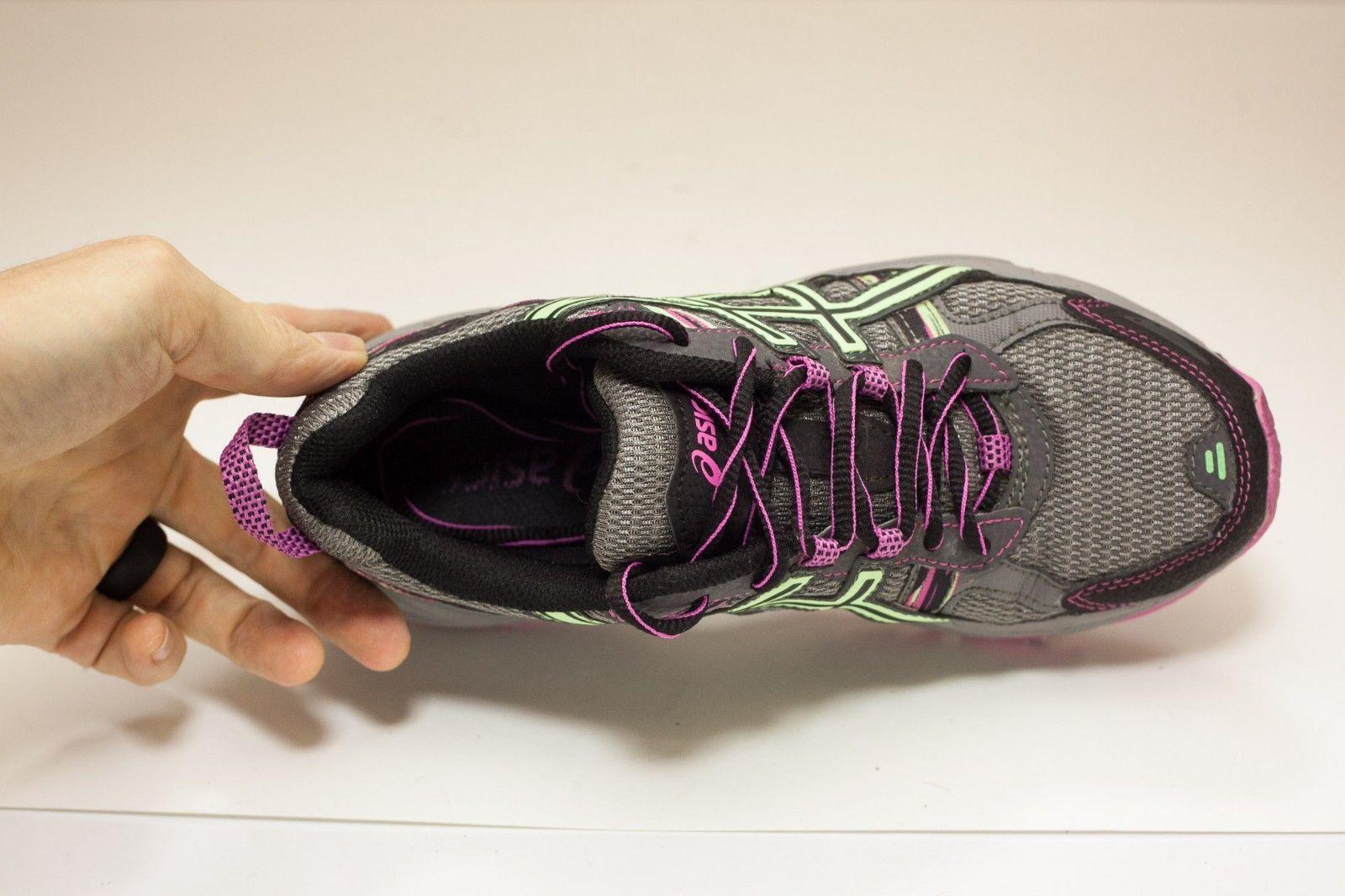 Asics Gel-Venture US 6 D Gray Purple Running Shoes Women's