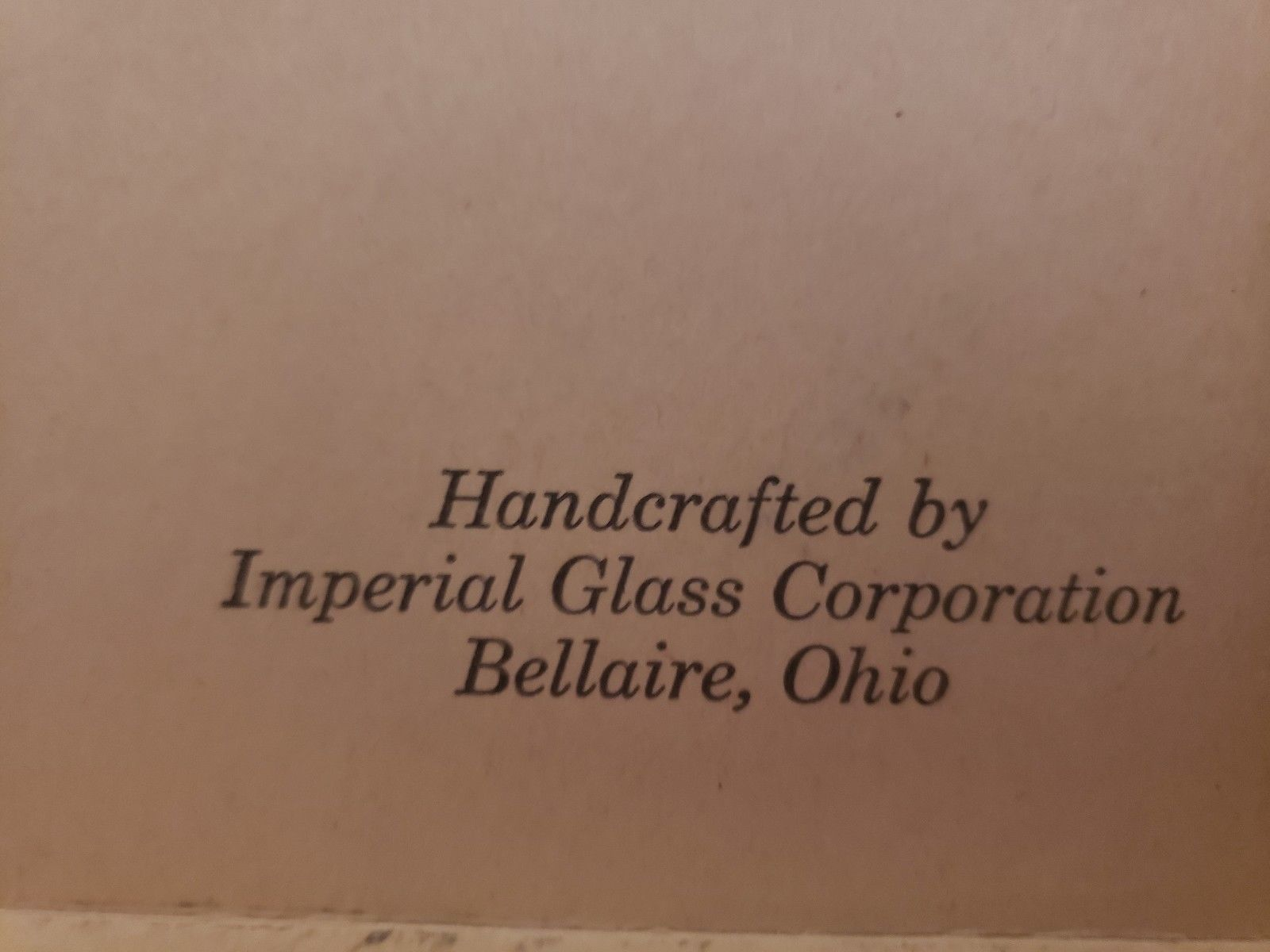 Original Box for Imperial Glass Crystal Coins 1964 Liberty Series Kennedy Plate
