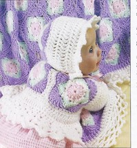 Baby Delight Sweater, Hat & Afghan Crochet Pattern~For Boy & Girl - $21.99