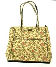 Longaberger Floral Purse Shoulder Handbag Pocketbook Beige Autumn Fall L... - $23.75