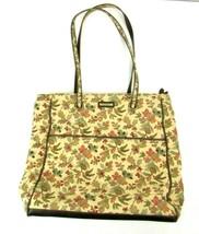 Longaberger Floral Purse Shoulder Handbag Pocketbook Beige Autumn Fall L... - $23.75