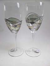 "Romania Europe Stil Glass Wine Water Goblets Set of 2 Stemware 10 5/8"" tall - €23,38 EUR"