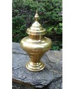 brass vase vintage, mid century, Hollywood Regency - $24.00