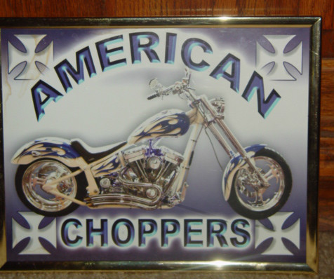 American Choppers Wal Art Framed