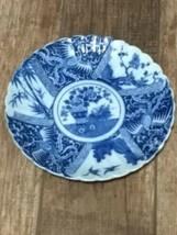 Vintage blue willow porcelain  saucer made in Japan Scalloped - $9.90