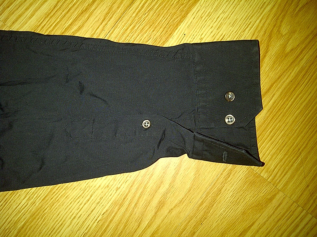Express Casual Black Long Sleeve Stretch Button Front Down Up Shirt L Large