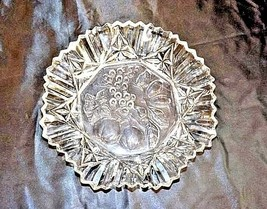 Glass Bowl with Detailed Fruit Etched Design AA18-11910 VintageHeavy image 2