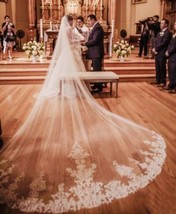 4m/13 ft White/Ivory 1T layer cathedral  long wedding bridal veil with comb - $51.48