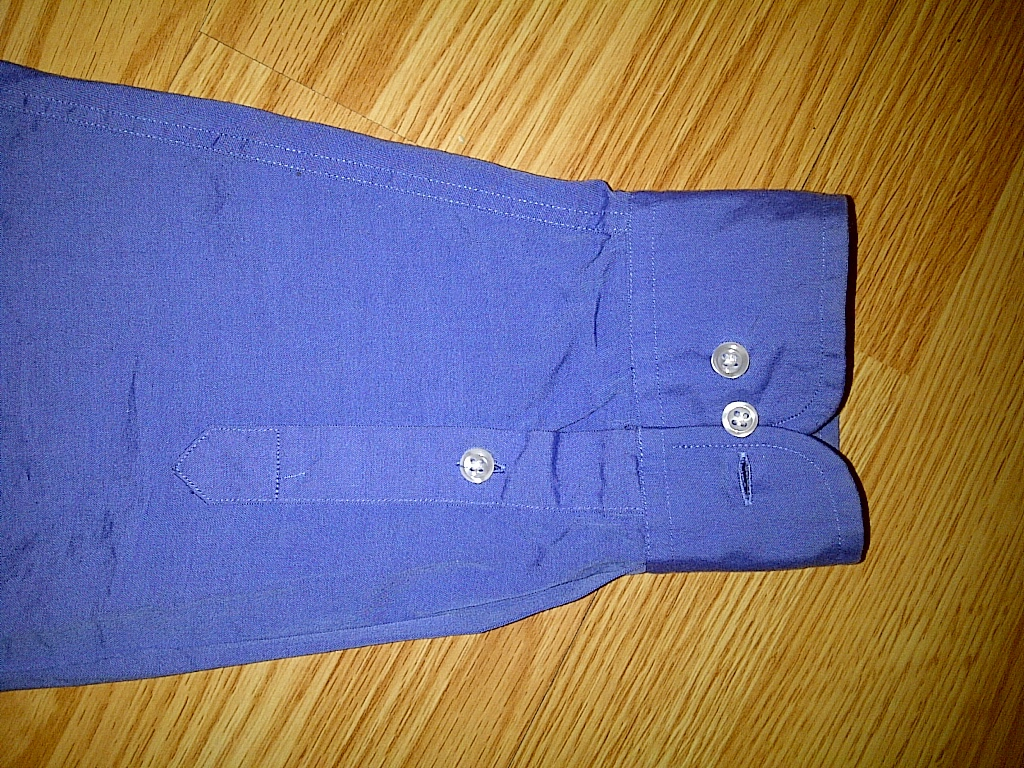 Club Room Royal Blue Long Sleeve Button Front Down Up Shirt Large 16 1/2 34/35