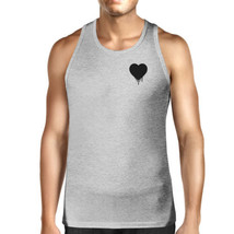 Melting Heart Men's Tank Top Pocket Size Graphic Cute Heart Design - $14.99+