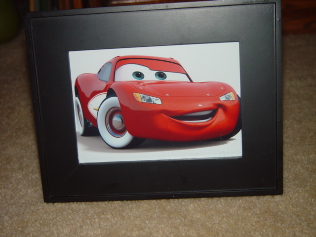 Disney Cars Lighting McQueen Photo Framed