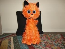 HALLOWEEN CAT Schurman Google Eyes Orange Plush Black Velvet RARE - €24,53 EUR