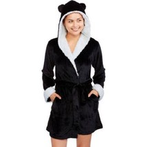Animal Hooded Robe Huggable - Plush Sherpa Black and White (Juniors-Size... - ₹1,581.31 INR