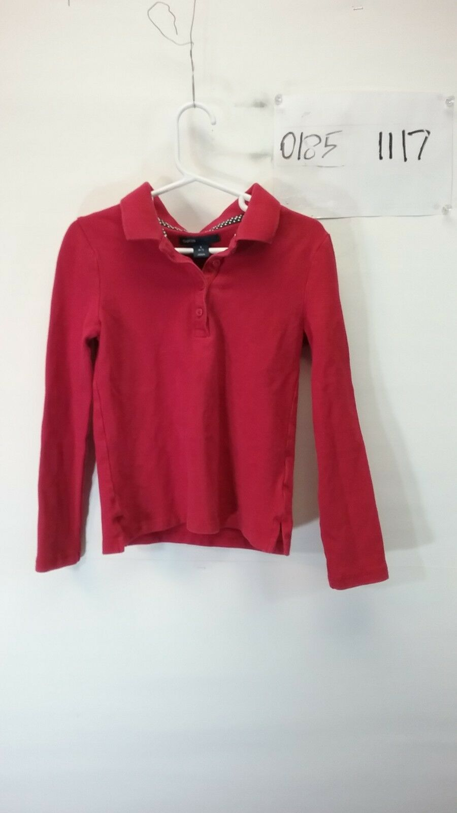Gap Kids Boy's Red Long Sleeve Polo Shirt Size Small