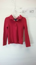 Gap Kids Boy's Red Long Sleeve Polo Shirt Size Small - $9.99