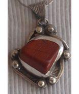 Blood stone silver pendant MT 14 - $48.00