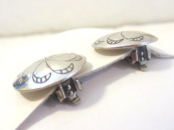 Vintage sterling silver 925 clip earrings